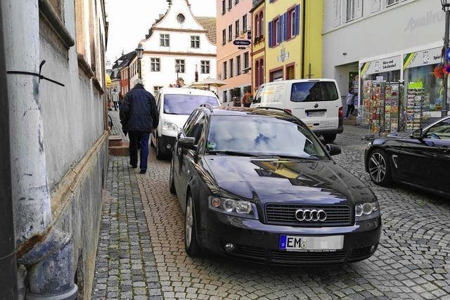 Aktion für richtiges Parken: Autofahrer, die sich vorschriftsmäßig verhalten, bekommen eine Belohnung
