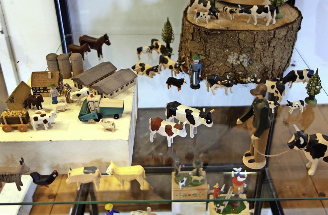 Holzspielzeug  aus der Sammlung von Ma... zu sehen.                              | Foto: mah
