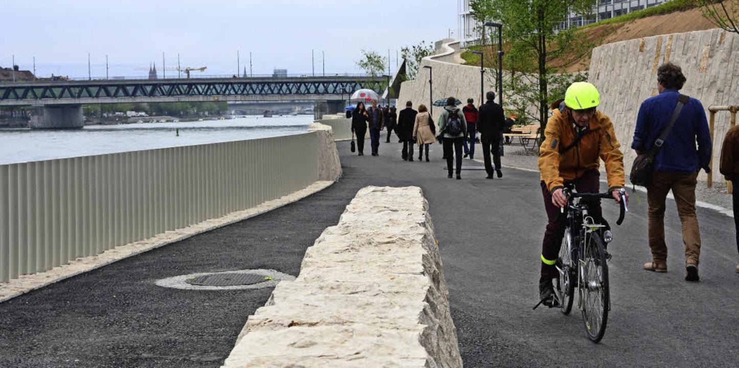 Der neue Rheinuferradweg zwischen  Hüningen und Basel wird sehr gut angenommen.   | Foto: Mahro