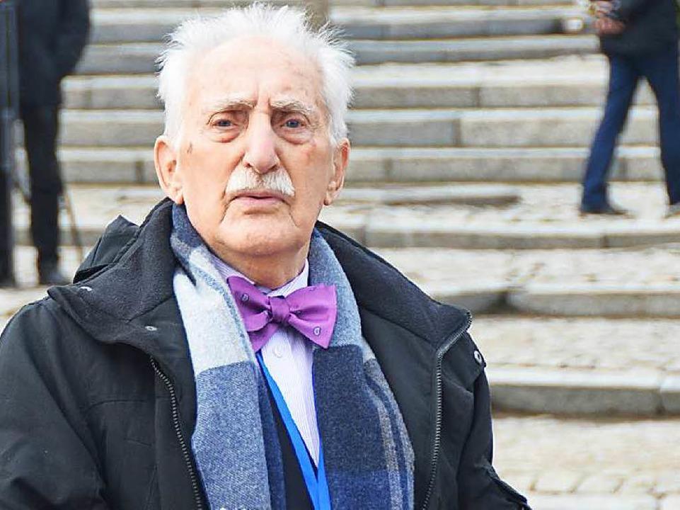 Leon Weintraub (90), Auschwitz-Überleb...e in seinem Leben drei Mal verstoßen.   | Foto: Soboll
