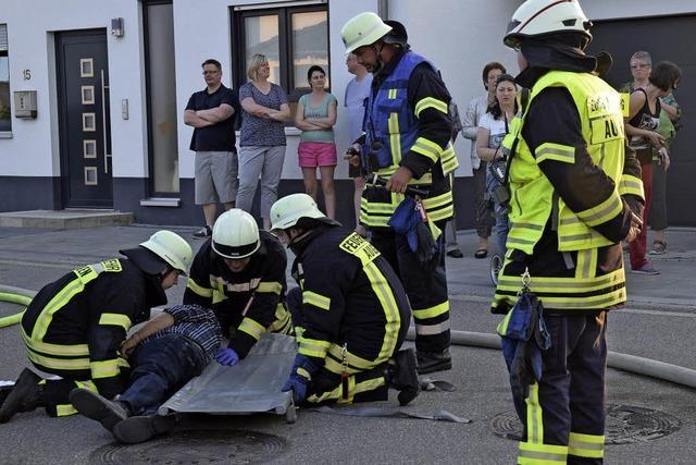 Die Freiwillige Feuerwehr Auggen zeigt, wie ein Einsatz funktioniert