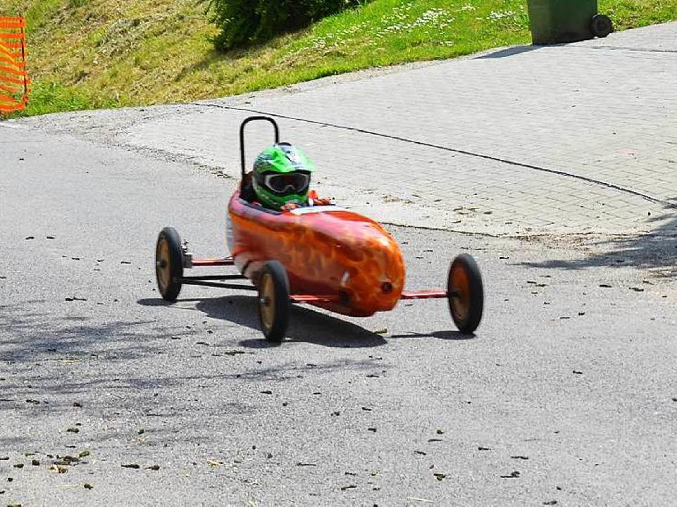 Rasante Flitzer beim Seifenkistenrennen in Seefelden  | Foto: sigrid umiger