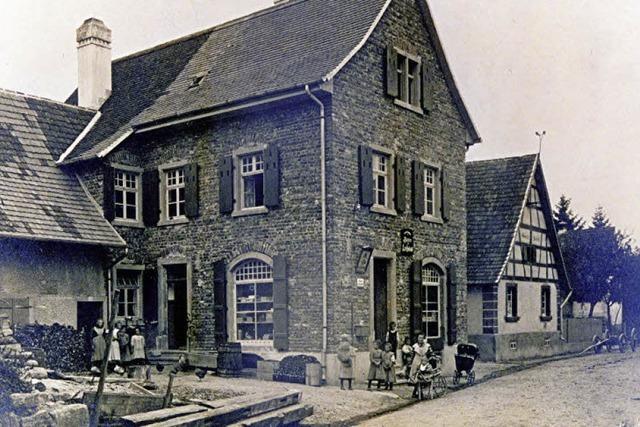 Im Hodapp'schen Kolonialwarengeschäft befand scih lange die Poststelle des Ortes
