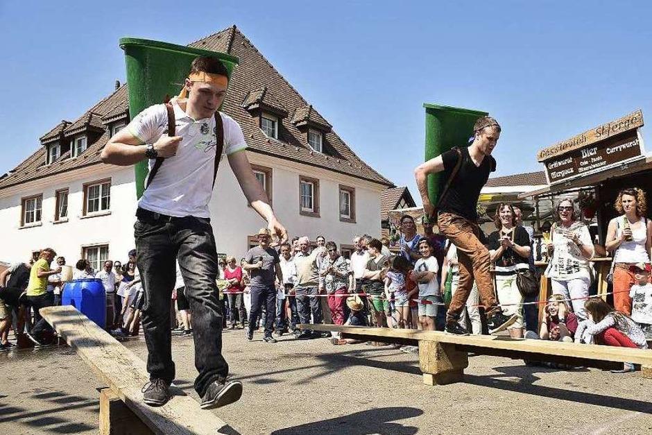 Sechs Disziplinen mussten die Teams bei den ersten Winzerspielen bestreiten. (Foto: Thomas Kunz)