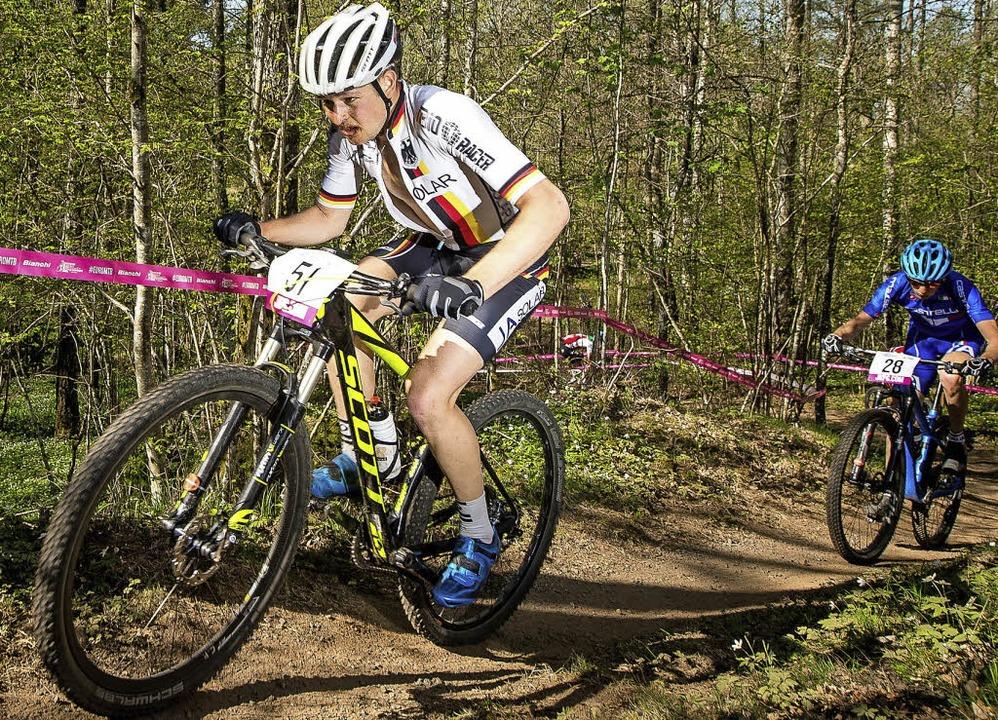 Viele Konkurrenten eingesammelt: Luca Schwarzbauer (links)     Foto: küste
