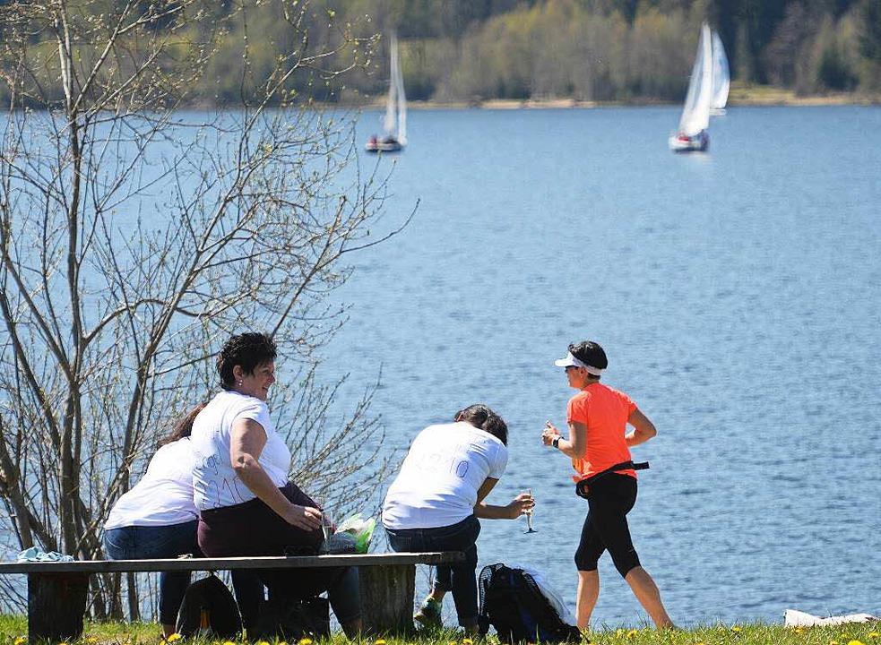 Eine Idylle für die Zuschauer, ein Kra...um den See jetzt 100 Meter kürzer ist.  | Foto: Patrick Seeger