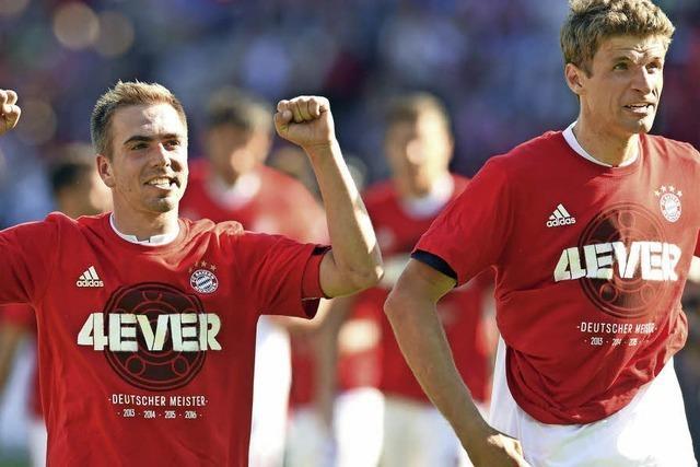 Humba hier, ein Tränchen da: So feiern die Bayern den Titel