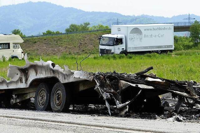 Abgebrannter Wohnwagen – Polizei geht von Brandstiftung aus