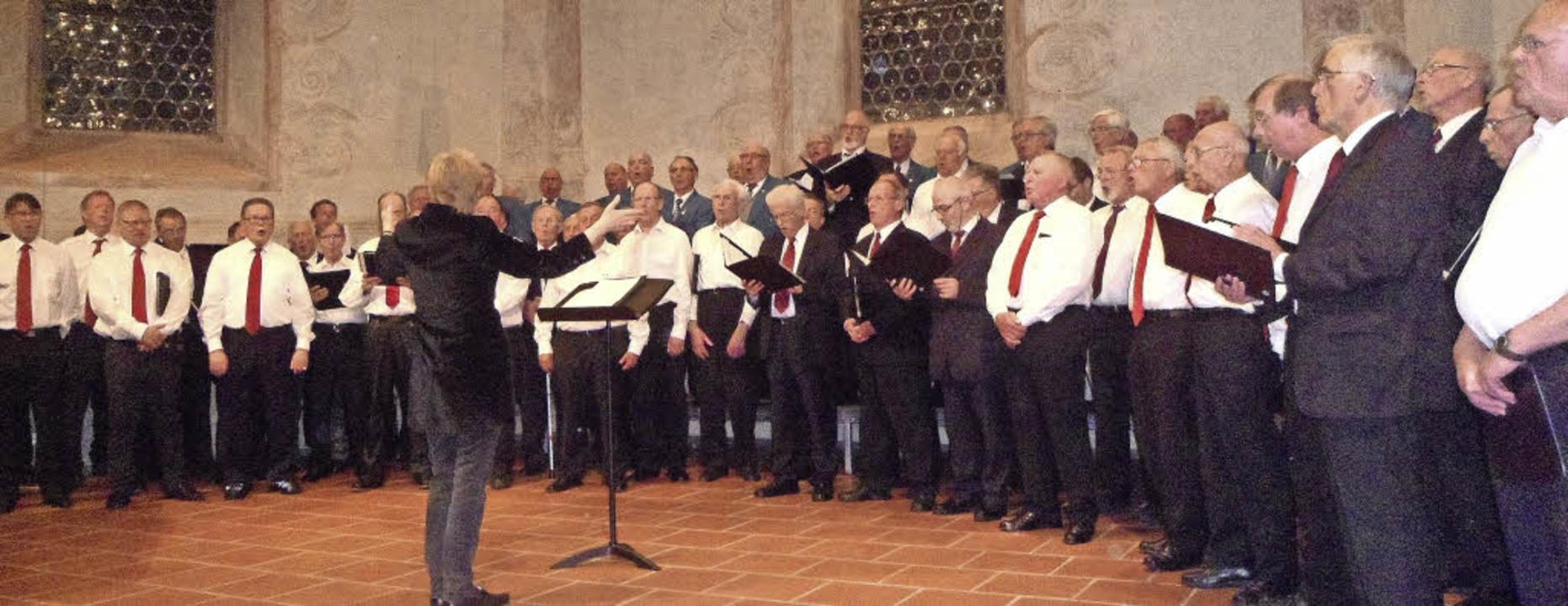 Das Männerchorfestival in der Martinskirche vereinigte fünf Männerchöre.   | Foto: Bianca Flier