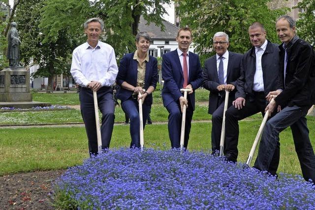 Fünf Jahre nach Beschluss hat die Umgestaltung des Hebelparks begonnen