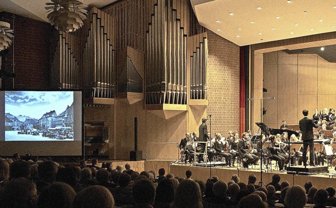 Musik- und Bildcollage zum Jubiläum   | Foto: Musikhochschule