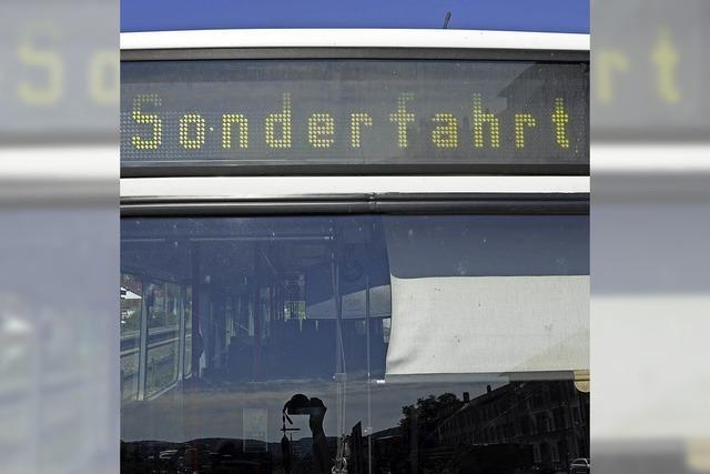 Bus statt Bahn an Pfingsten