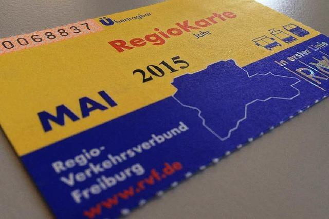 Die Regiokarte wird um 1,50 Euro teurer