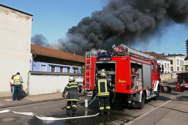 Werkstatt abgebrannt