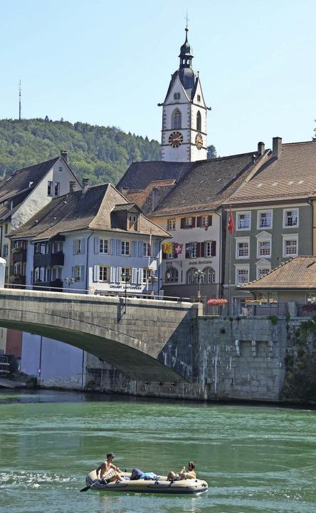 """""""Ein Besuch wird zum Erlebnis&#8...zeigt sich von Laufenburg begeistert.     Foto: Winfried Dietsche"""