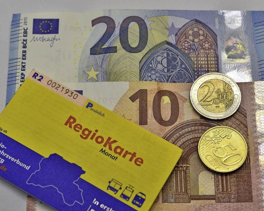 32,50 Euro soll die nicht übertragbare Regiokarte kosten.   | Foto: Michael Bamberger
