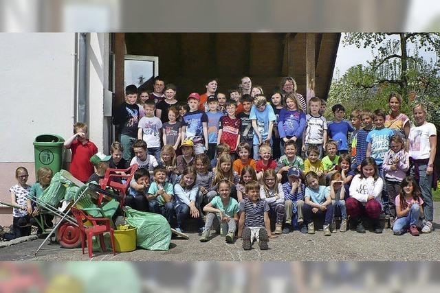 Kinder starten Müllsammelaktion