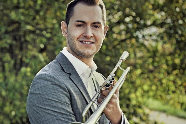 Trompeter Kevin Pabst spielt im Rahmen der Kulturtage