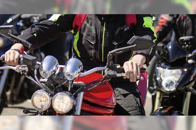 Motorräder im Polizei-Fokus