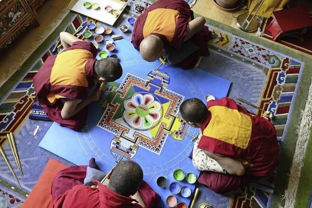 Sandmandala im Tibet-Kailash-Haus
