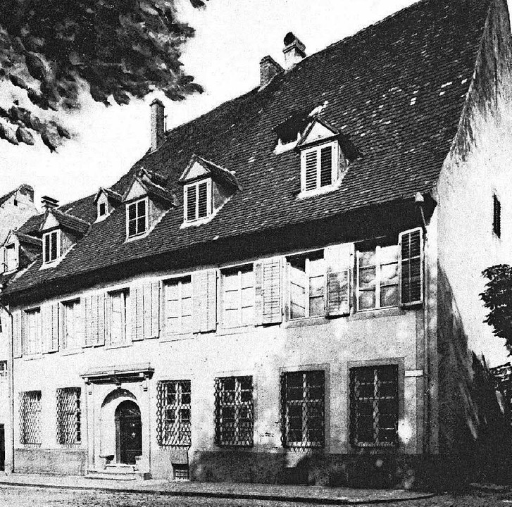 Historische Aufnahme des Andlau'schen Hauses  | Foto: erzdiözese