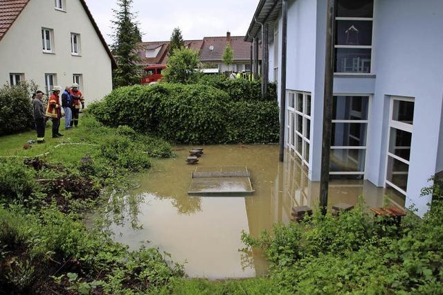 Kindergarten schon wieder Opfer der Fluten