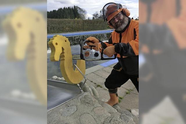 Wettbewerb der Holzbildhauer im Höhenbad