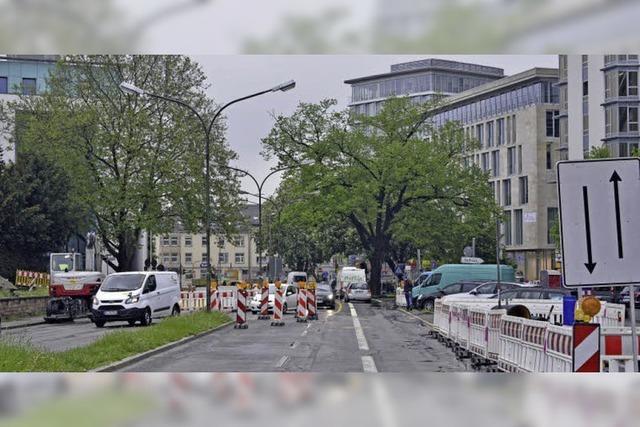 Das Rotteck-Denkmal ist derzeit eingelagert - und schon mehrfach umgezogen