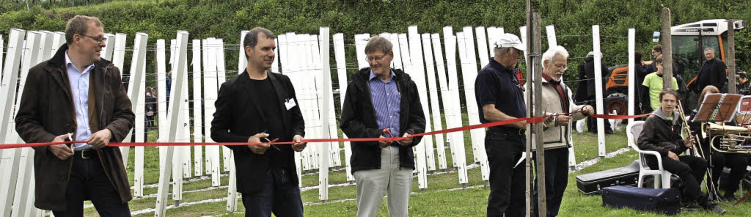 Bahlinger Kulturwochenende: Offizielle...berl und Helmut Schöpflin (von links).  | Foto: Christiane Franz