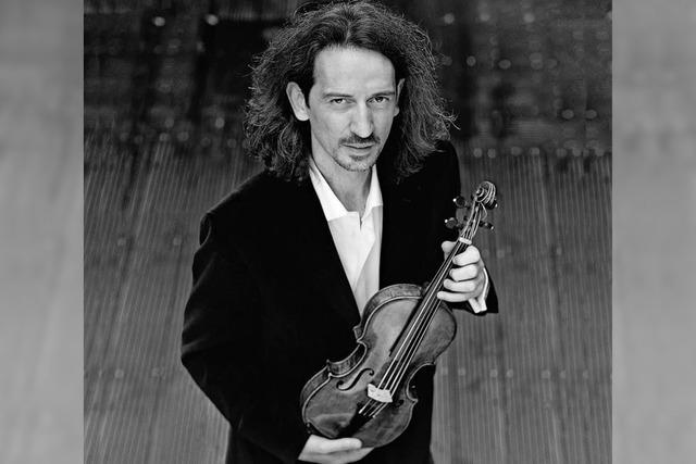 Anton Steck (Violine, Foto) sowie L'arpa festante - Barockorchester München werden unter der Leitung von Matthew Halls in Müllheim