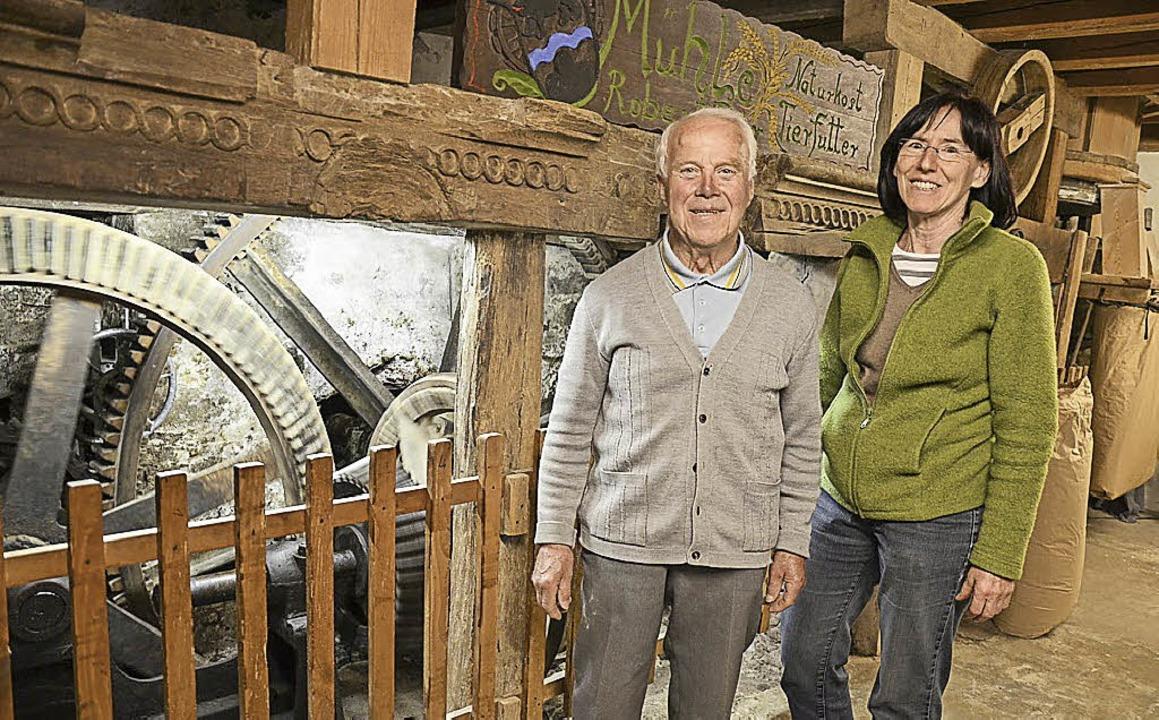 Der ganze Stolz von Robert Bär ist das...n öffnete er seine Mühle am Mühlentag.  | Foto: Benedikt Sommer