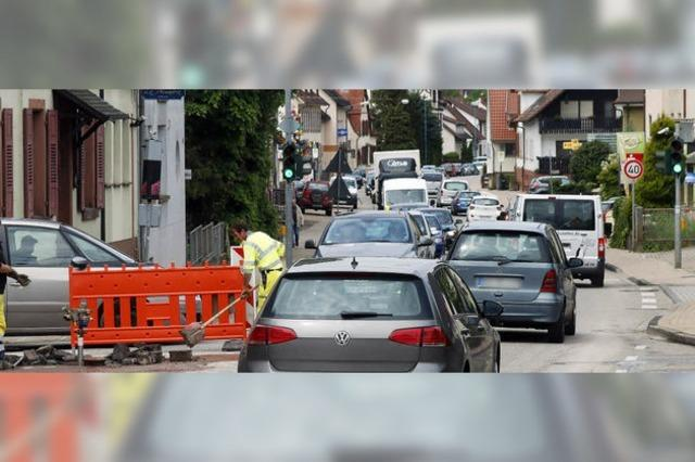 Verkehrsbehinderung in Kuhbach