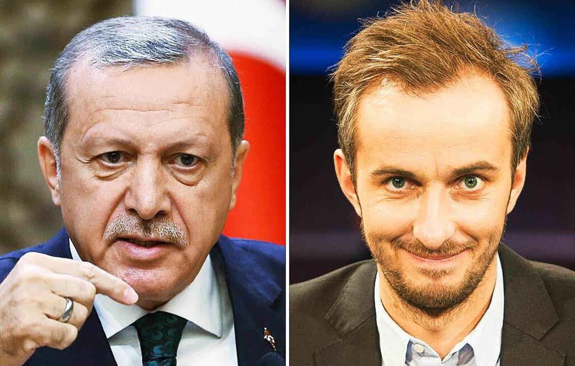 Erdogan und Böhmermann: Der Streit ums...F neo wird vor Gerichten ausgefochten.  | Foto: dpa