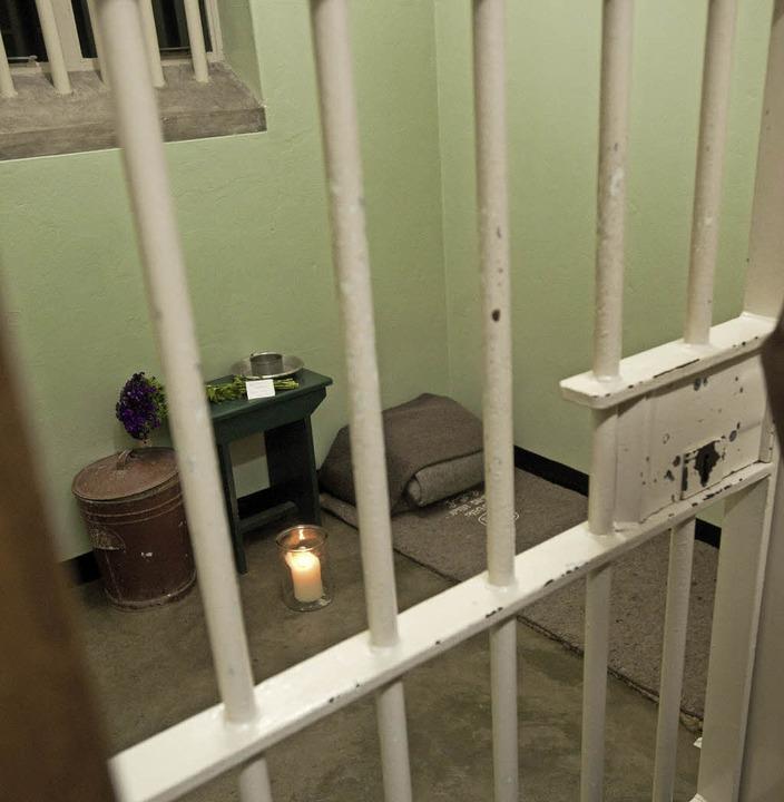 In dieser Zelle war Nelson Mandela inhaftiert.   | Foto: AFP