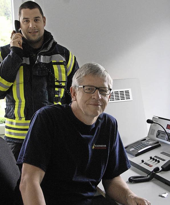 Maik (hinten) und Günter Lenke freuen sich, dass <ppp></ppp>  | Foto: Herbert Frey
