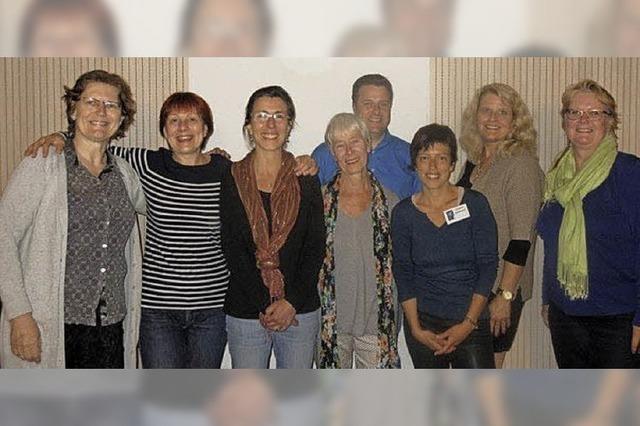 Französische Gäste beim Sprachencafé