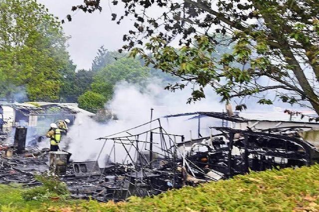 Defekt löste wohl Wohnwagenbrand in Freiburg aus