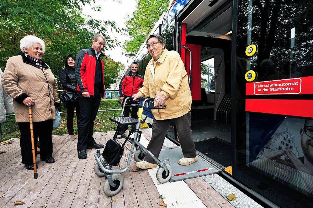 Rollatorfreundlich und behindertengerecht sind die neuen Urbosse.  | Foto: Thomas Kunz