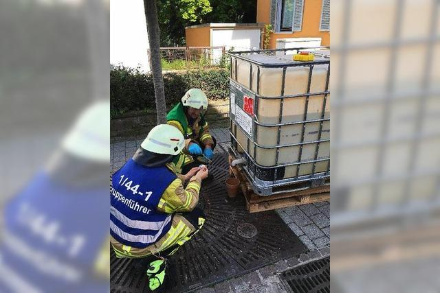 Gefahrgutalarm in Bad Krozinger Fußgängerzone