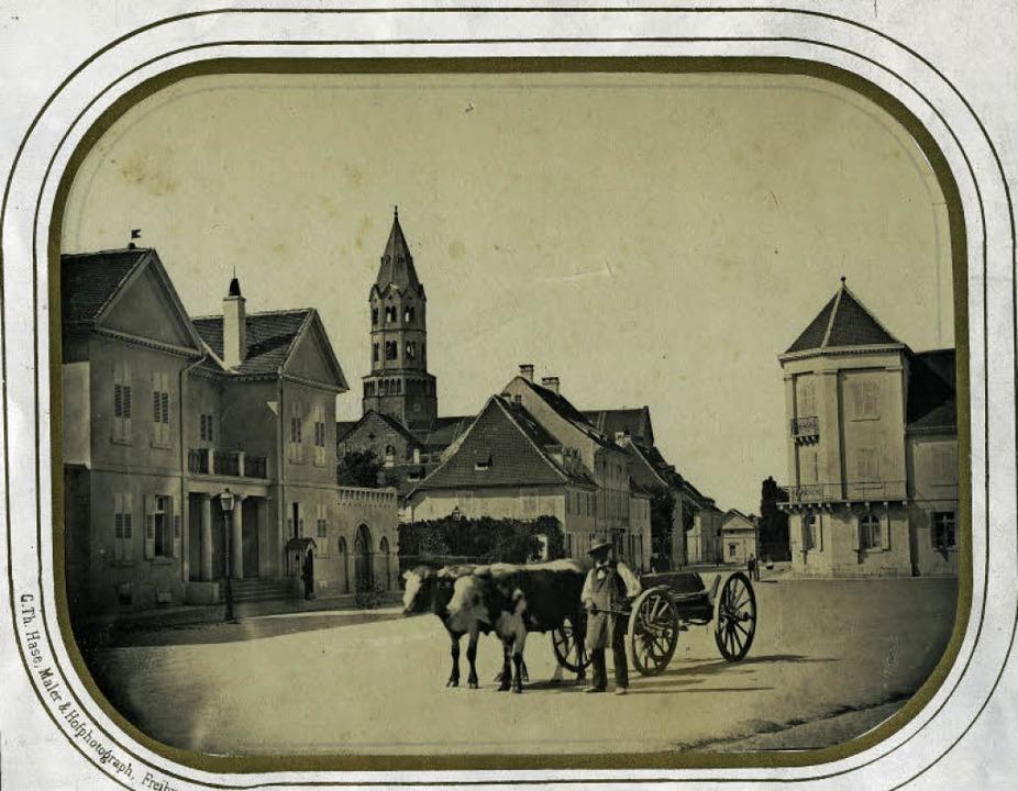 So sah der Platz ohne Siegesdenkmal aus (Foto aus der Zeit um 1860).   | Foto: Augustinermuseum