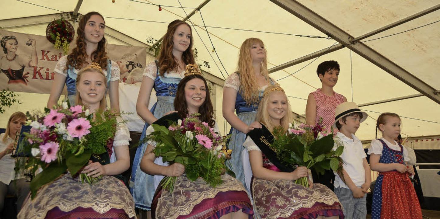 Königschaffhausen.  Strahlende Gesicht...n Sexauer (links) und Kim Suhr rechts.    Foto: Roland Vitt