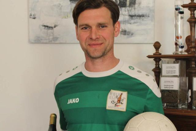 Fabian Schmidt kickt mit der deutschen Wein-Elf bei der EM