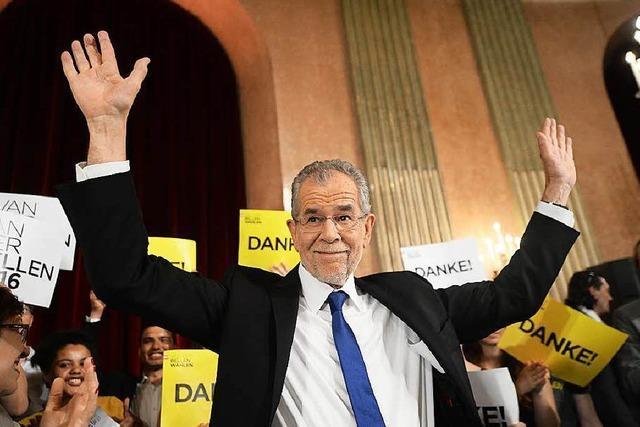 Van der Bellen gewinnt Präsidentschaftswahl knapp