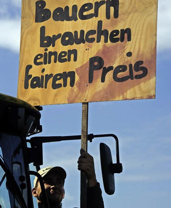Der Kampf um faire Milchpreise ist ein Dauerbrenner.   | Foto: dpa