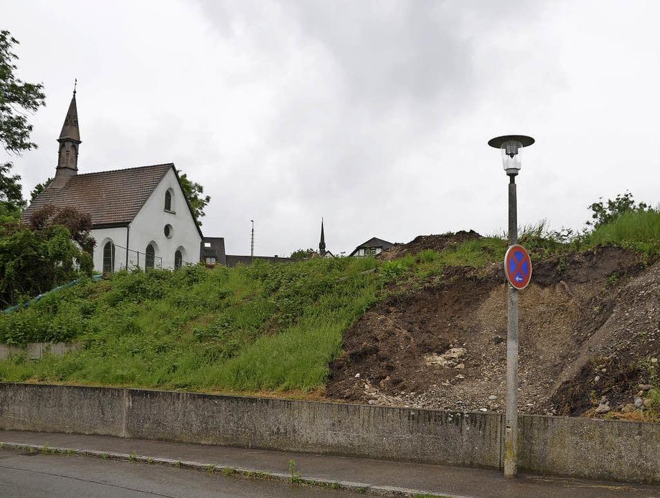 An dieser Stelle befanden  sich bis Fr... zu Demozwecken aufgebaut worden war.     Foto: Verena Pichler