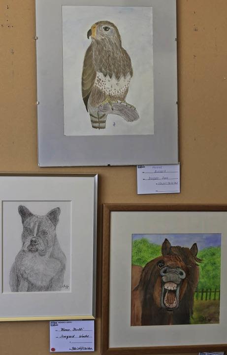 Auch Porträts von Tieren sind in Brombach zu sehen.  | Foto: Katharina Bartsch
