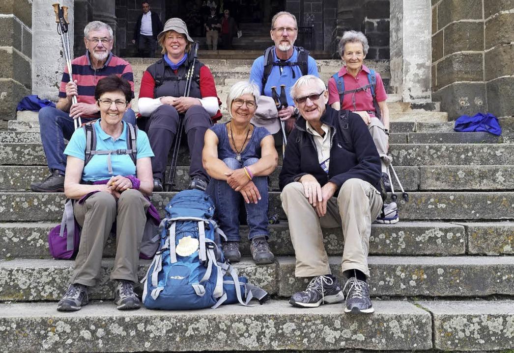 Eine Pilgergruppe aus Todtnau bewältig... dem Weg nach Santiago de Compostela.   | Foto: Privat
