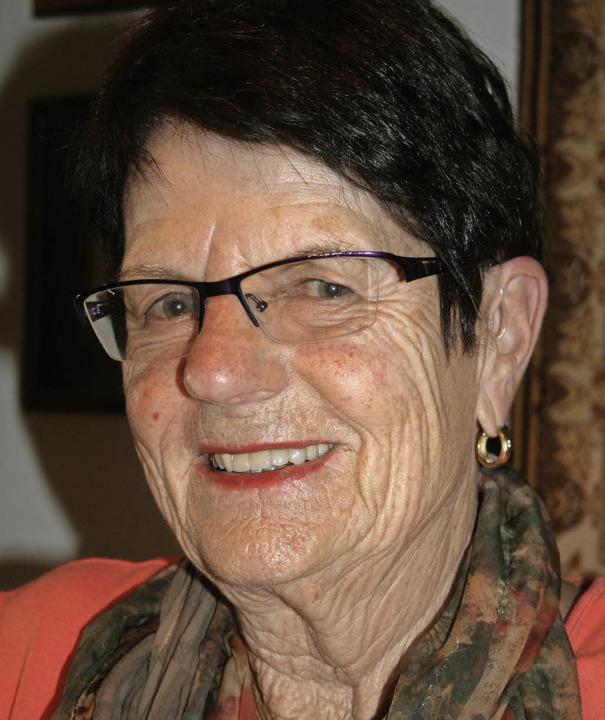 Modisch: Madlee Schultheiß feiert heute ihren  75. Geburtstag.  | Foto: Lacher
