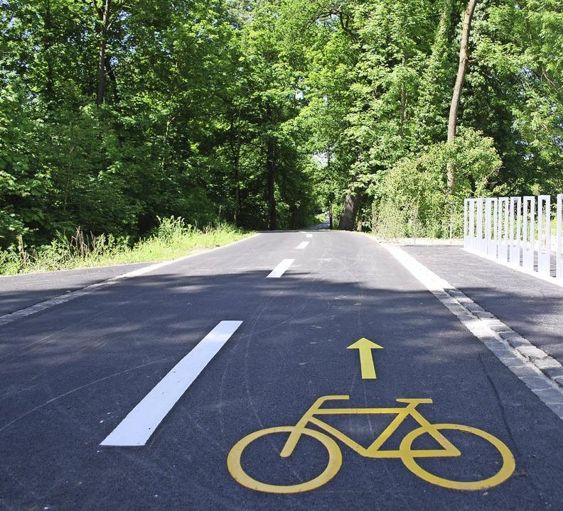 Der neue  Radweg in den Langen Erlen ermöglicht eine Erweiterung des Tierparks.    Foto: Thomas Loisl Mink
