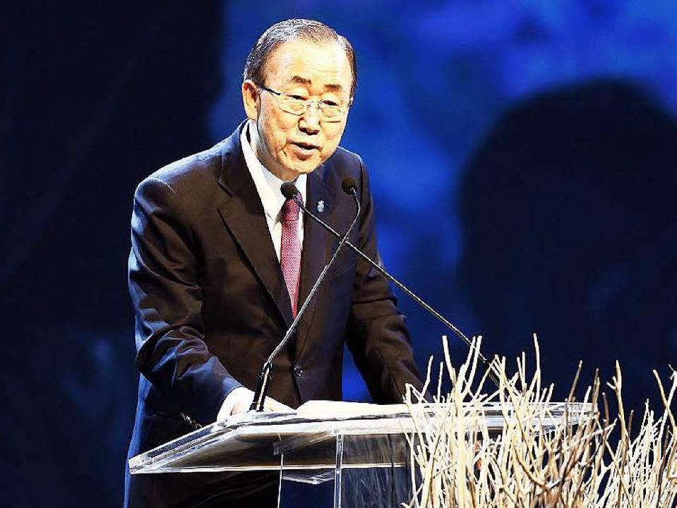 Ban Ki Moon in Istanbul     Foto: dpa